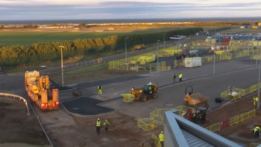 Revamp work at RAF Lossiemouth