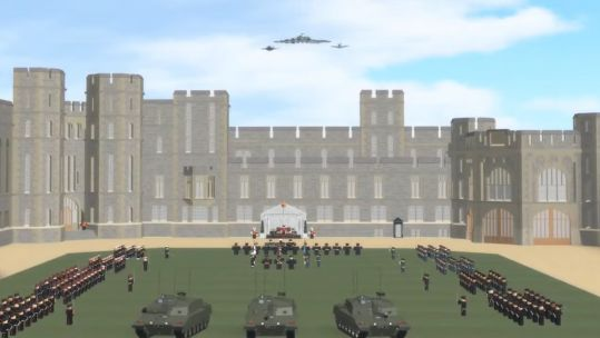 The Roblox gaming community celebrates its Armed Forces Day 2020 (Picture: Tim Ruarc / © 2020 Roblox Corporation. ROBLOX is a registered trademark of Roblox Corporation. All Rights Reserved.).