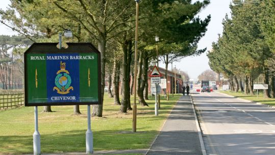 Royal Marines Barracks Chivenor (Picture: PA).