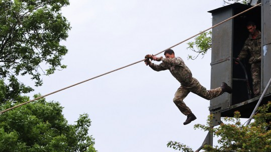 Royal Marine training