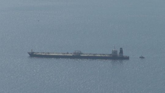 Royal Marines have boarded an oil tanker in Gibraltar on its way to Syria