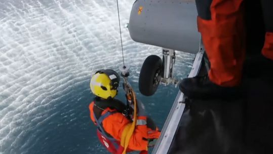 Royal Navy Aircrew Practice Search And Rescue Skills