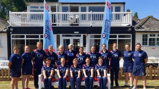 Royal Navy women cricketers 2018