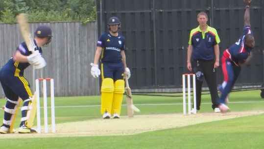 Liam Dawson at 2018 Royal Navy vs Hampshire cricket match