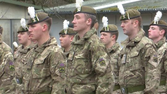 Royal Welsh Regiment on St David's Day in Germany 010320 CREDIT BFBS