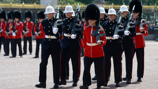 Royal Marines Perform Historic Changing of the Guard