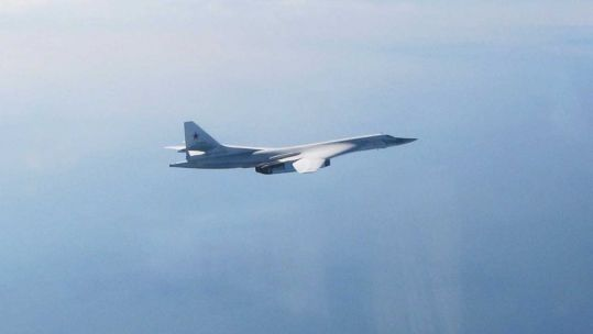 Russian Blackjack aircraft approaching UK airspace (Picture: MOD).