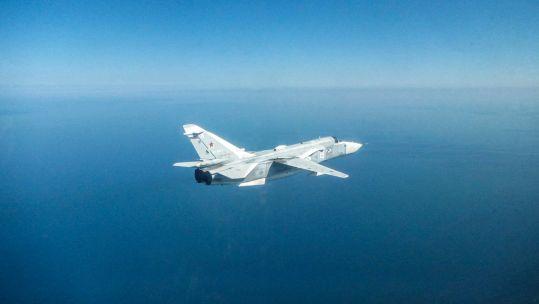 Scrimă rusească SU-24 pe Marea Neagră