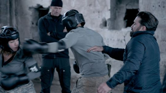 SAS Who Dares Wins Boxing Recruits Louise Nathaniel Ant Middleton CREDIT: Channel 4