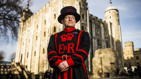 Tower of London Ex-Royal Navy Beefeater