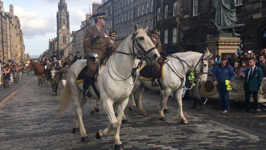 Scots DG during Edinburgh Riding of the Marches (Picture: MoD).