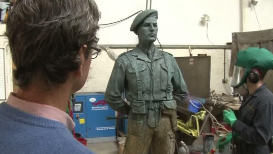 D-Day Hero Remembered With Statue