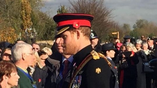 Prince Harry at the National Memorial Arboretum