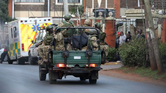 Security Forces Assist Militant Terror Siege In Nairobi Hotel PA IMAGES 160119