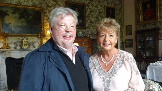 Falklands veteran Simon Weston with Joan Clements, Director of Brooke House (Picture: Ken Johnston).