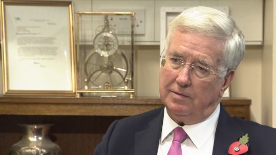 Sir Michael Fallon sit down interview 051119 CREDIT BFBS