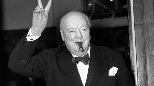 Sir Winston Churchill V Sign