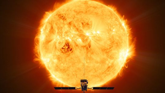 ESA's Solar Orbiter mission will face the Sun from within the orbit of Mercury at its closest approach. ESA/ATG medialab   - Solar Orbiter 20final - British Astronaut Tim Peake On The UK's Future In Space