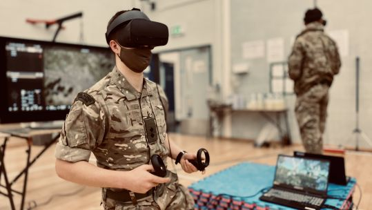 40 Commando Royal Marines trial virtual reality system in Taunton, Somerset 260221 CREDIT BFBS .jpg