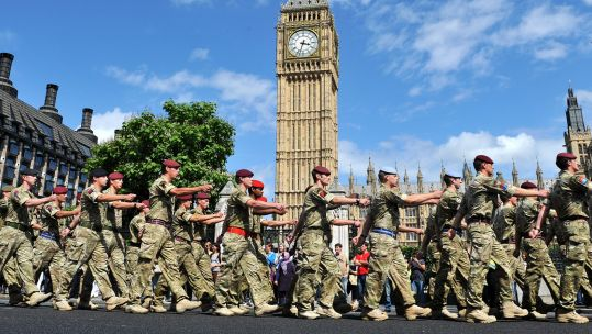 Soldiers outside the Houses of Parliament Picture British Army.jpg