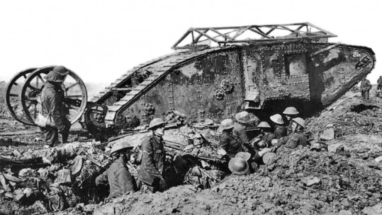 A British Mark I Tank At The Somme, 1916