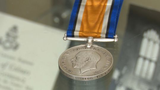 Stephen Smith's WWI medal 090119 CREDIT BFBS
