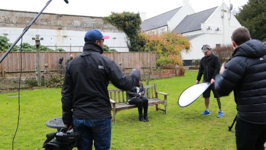Forces Media Academy films on location