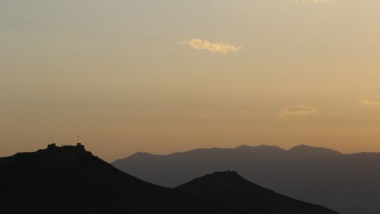 Sunset behind Gardez mountains in Afghanistan (Picture: NATO).