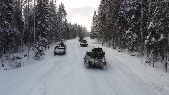 Tanks taking part in training in Estonia as part of NATO's enhanced Forward Presence Battlegroup (Picture: NATO).