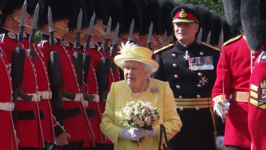The Queen at ceremony of the keys