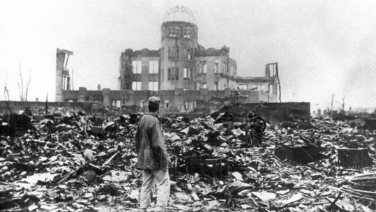 The devastation of the Japanese city of Hiroshima after the dropping of a nuclear bomb in WW2 010145 CREDIT UPPA-DPA-PA