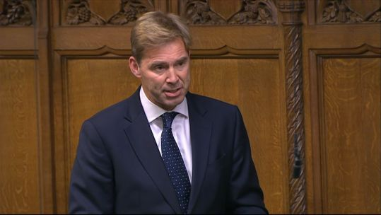 Tobias Ellwood MP Chair of the House of Commons Defence Select Committee in Parliament 210920 CREDIT PARLIAMENT TV