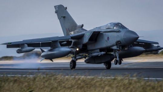 RAF Tornado lands after sortie (Picture: MOD).