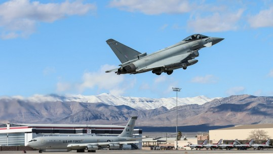 Typhoon of 6 Squadron taking to the skies during Exercise Red Flag Defence Imagery