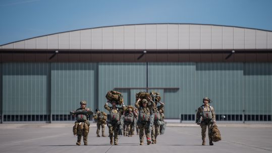 Cover image: US personnel at Ramstein Air Base in Germany (Picture: US Department of Defense).