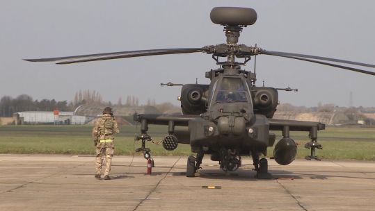 UK apaches deploy to Estonia 150419 SOURCE Forces News