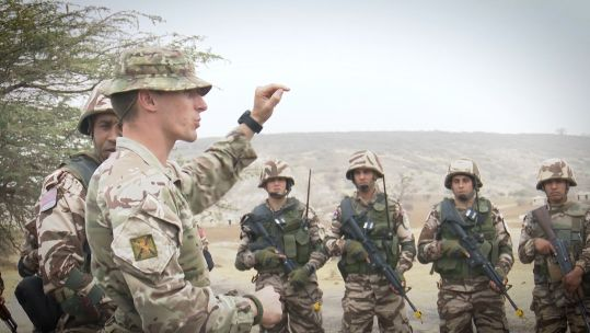 UK troops in Senegal for training exercise with West African troops 020320 CREDIT BFBS.jpg