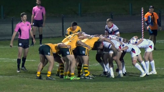 UKAF rugby league team vs Australia