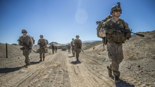 US Marines during a training exercise in California