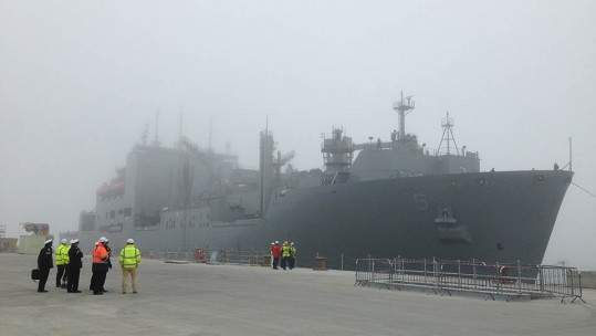 USNS Robert E Peary on the Jetty