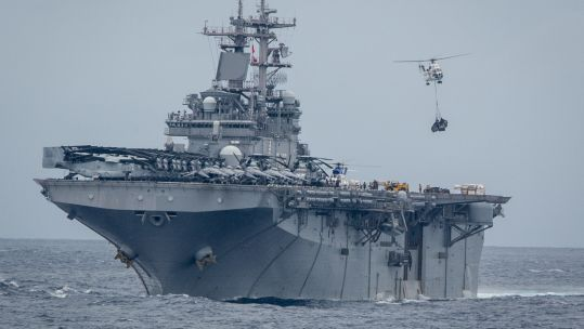 Amphibious assault ship USS Boxer shot down the drone, according to President Trump (Picture: US Department of Defense).