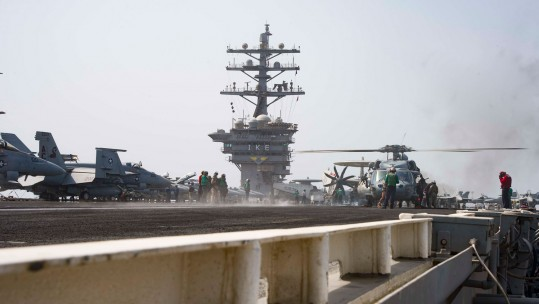 Landing On The Flight Deck Of The USS Eisenhower