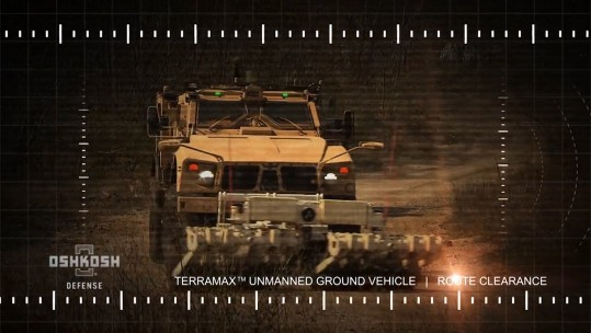 Unmanned Vehicle - Terramax CREDIT OSHKOSH