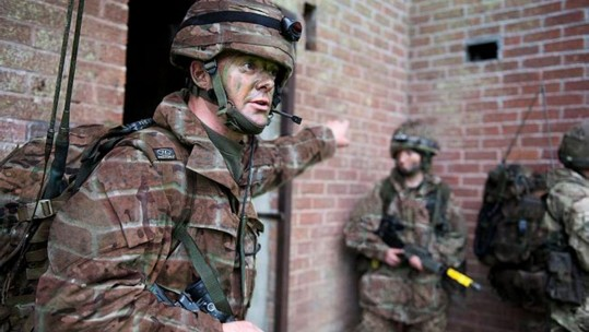 Soldiers wearing 'Brick' camo