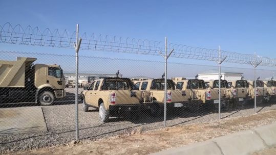 Vehicles of NATO Resolute Support mission Afghanistan (Picture: NATO TV).