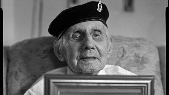Cover image: Portrait of 107-year-old veteran Jimmy Sinclair (Picture: Wattie Cheung/Poppyscotland).