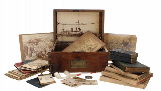 Royal Navy Seaman Frederick Allen's 'ditty box'.