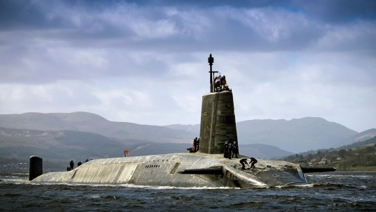HMS Vigilant Returns To Faslane After An Extended Patrol