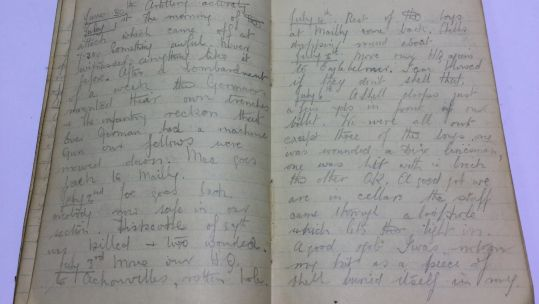 WWI Battle of Somme diary