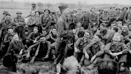 Mickey Rooney entertaining troops WWII